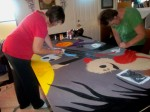 mel and bren painting jack together