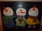 snowman trio finished