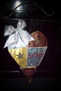 metal three piece heart