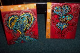zentangle red prints