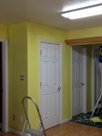 The customer wanted to take her grey kitchen and update it with a bright yellow. The transformation was breath taking.