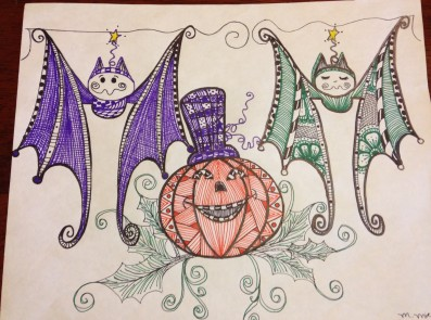 zentangle bats