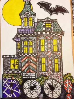 zentangle haunted house