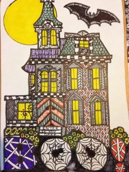 zentangle haunted house