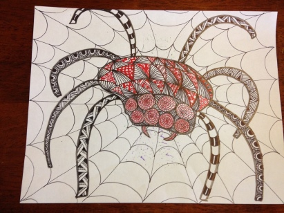zentangle spider