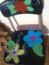 flower chair flowers blocked in
