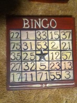 vintage game board bingo finished