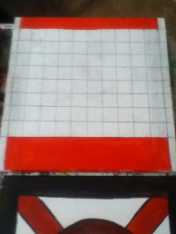 vintage game board checkers base coat
