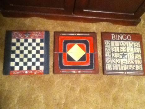 vintage game boards 3 finished