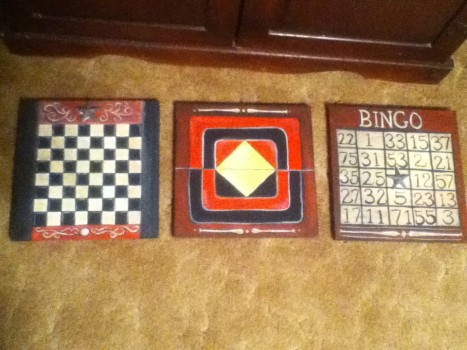 vintage game boards 3 finished
