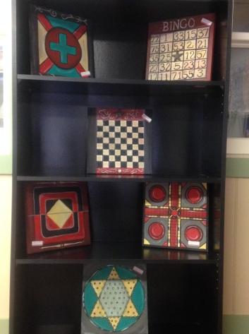 vintage game boards at shop