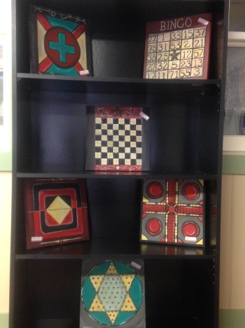 vintage game boards at shop