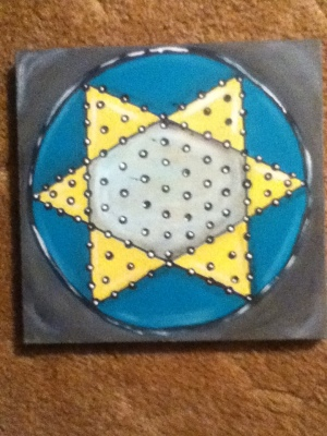 vintage game boards chinese checkers finished