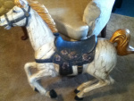carousel horse before