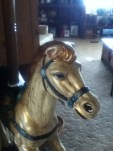 carousel horse finished face up close