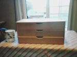 display case drawer before