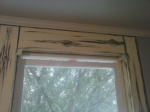 livingroom window wood grain base coat
