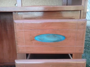 desk drawer detail'