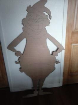 grinch on cardboard