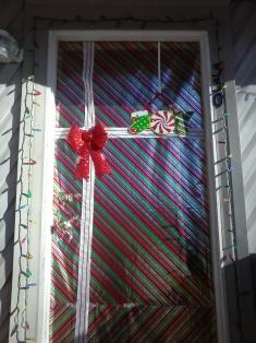 xmas house front door