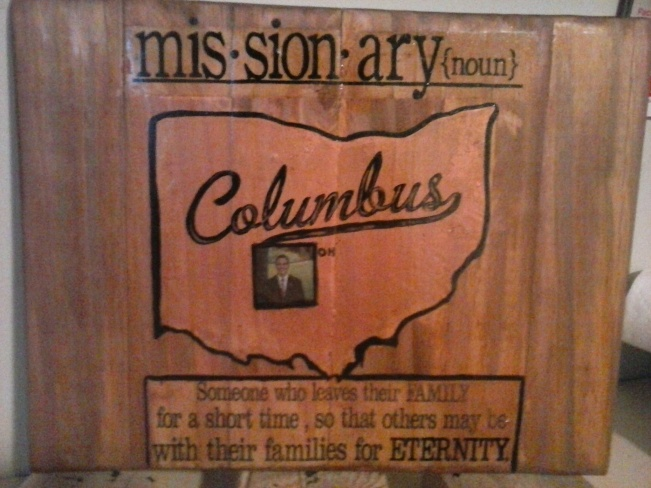missionary plaque